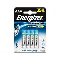Батарейки Energizer Maximum LR03 BL4 (4шт./уп.)