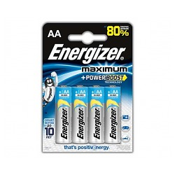 Батарейки Energizer Maximum LR06 BL4 (4шт./уп.)